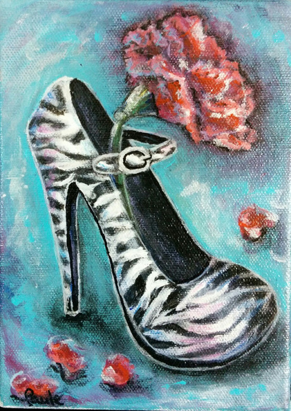 Shoe and carnation